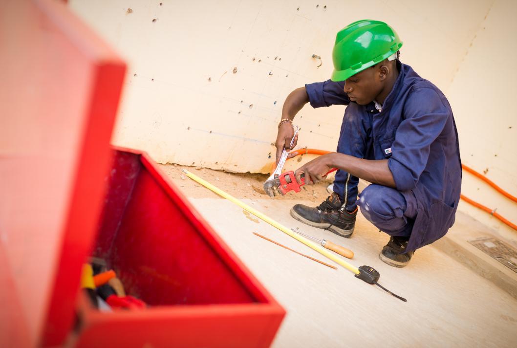 Sénégal, jeune homme, centre de formation, apprentissage, emploi