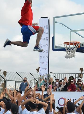 Maroc, NBA, dunk