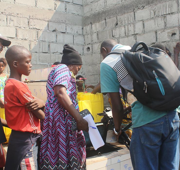 RDC, Kinshasa, robinets, Kabamba