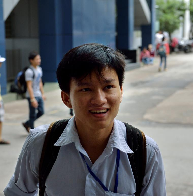Truong Quoc Vi, student at the Industrial university of Ho Chi Minh city