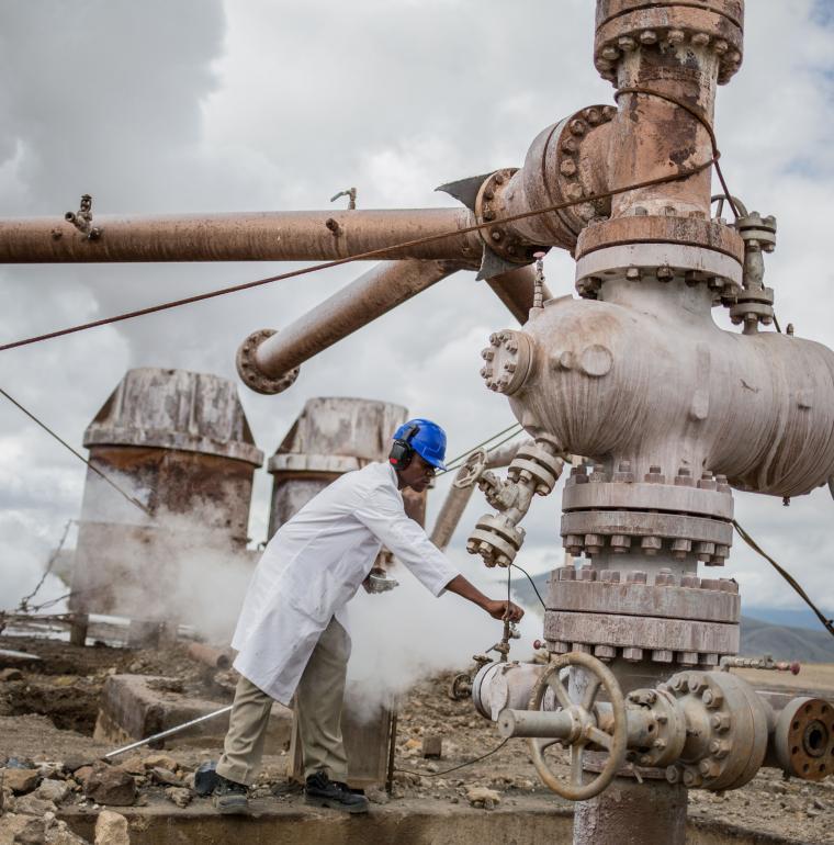 Géothermie à Olkaria au Kenya