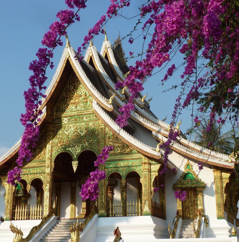 Ho Prabang, pagode de l'ex-Palais Royal de Luang Prabang, Laos