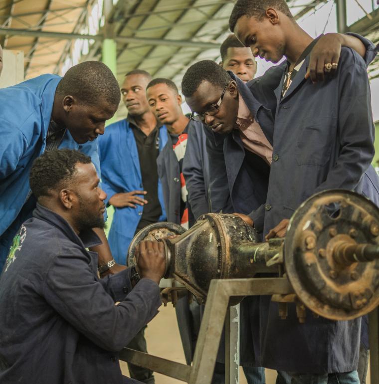 Étudiantes du lycée Arafatt, Nouakchott, Mauritanie