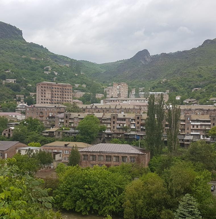 Vue sur Alaverdi, Arménie