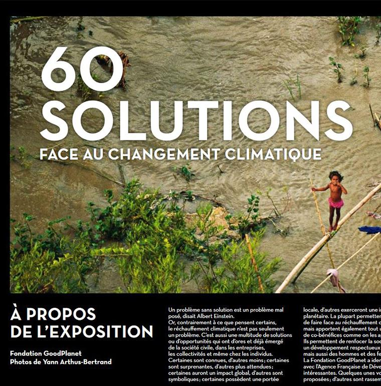 "Cover of the exhibition ""60 solutions against climate change"""