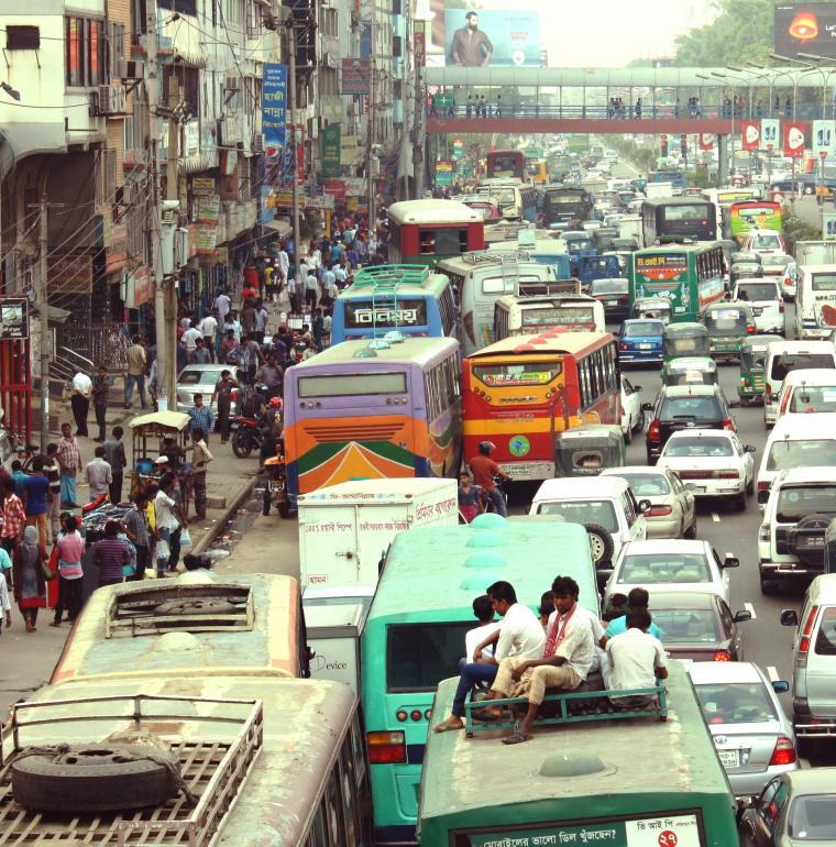 Bangladesh embouteillage Dhaka transport