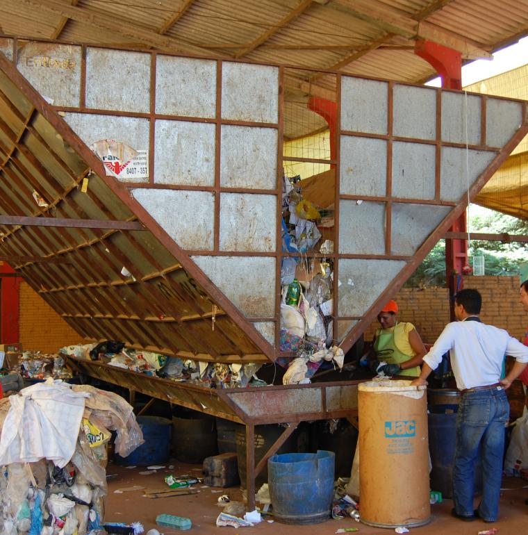 Local recycling / waste depot, Brazil