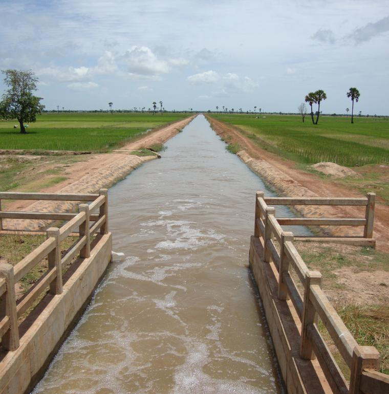 Cambodge irrigation eau agriculture