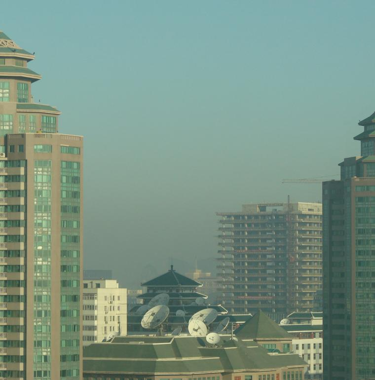 La pollution en ville Chine