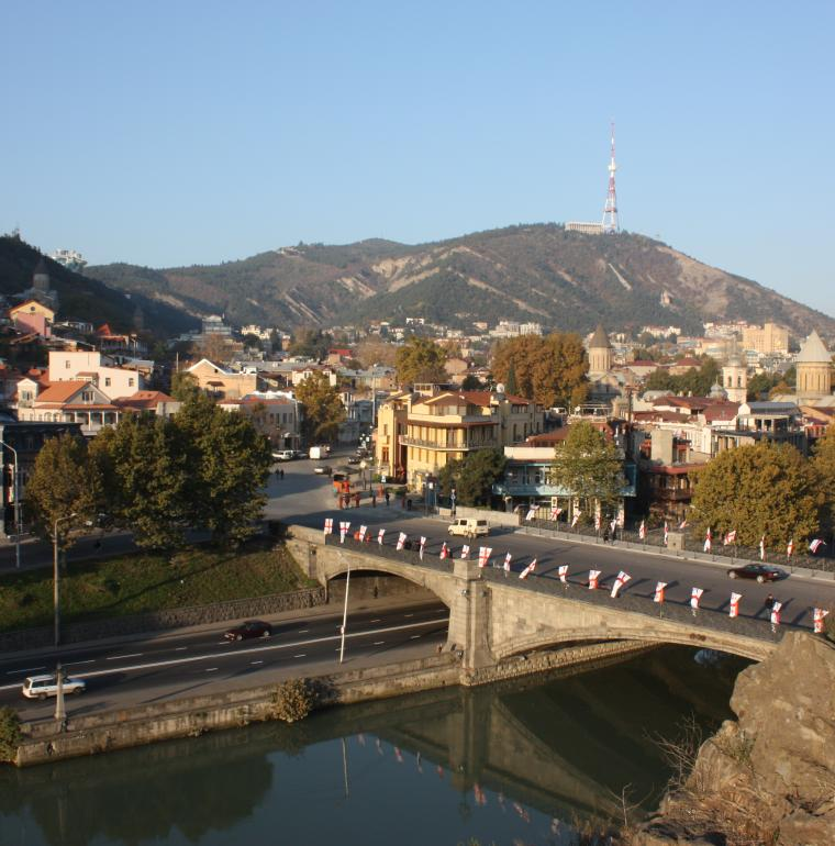 Ville de Tbilissi en Géorgie