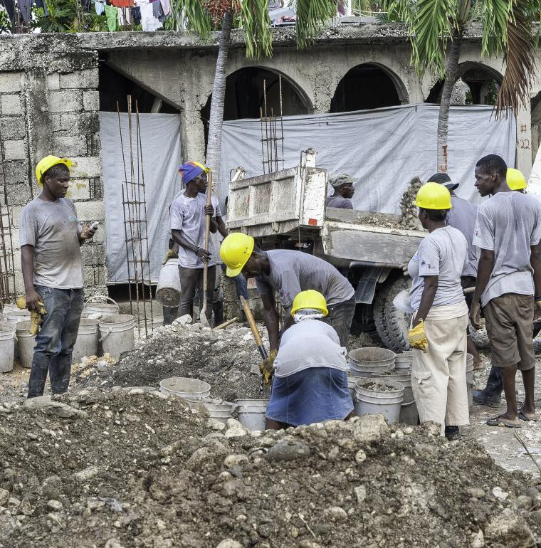 Redevelopment works in the Martissant neighborhood in Haiti