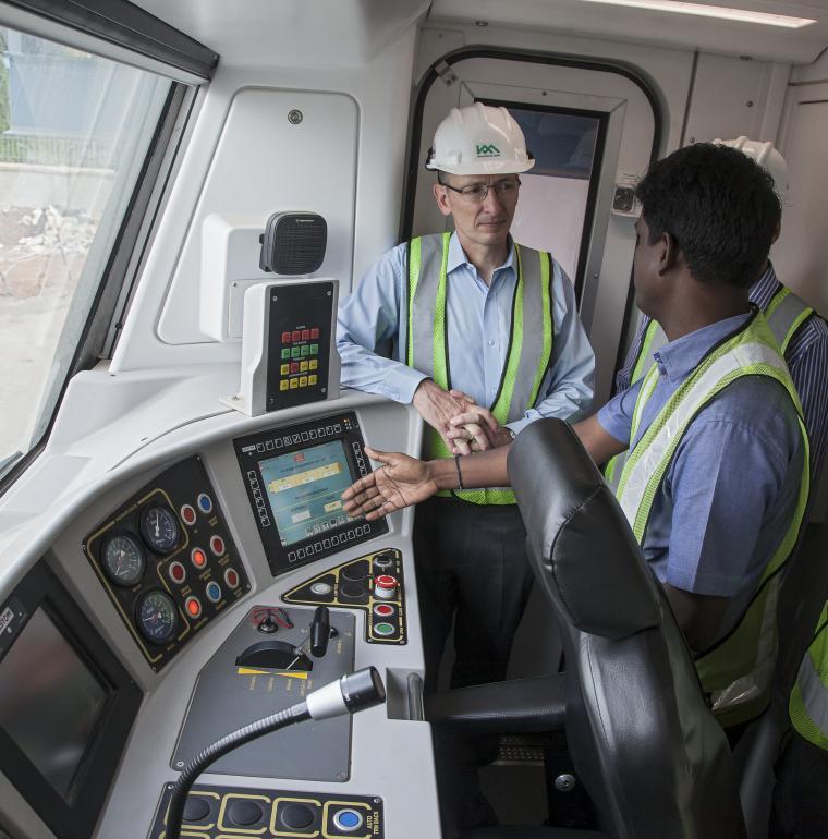 Inde métro Kochi coopération technique rame