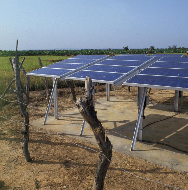 Mali panneau solaire électricité ferme