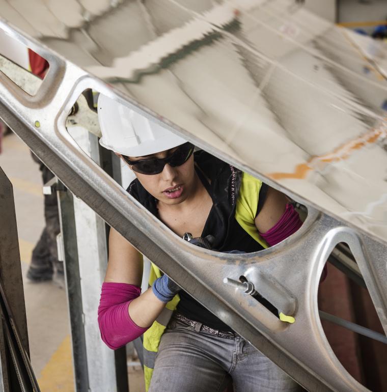Morocco, engineer, woman, Ouarzazate, solar plant Noor II