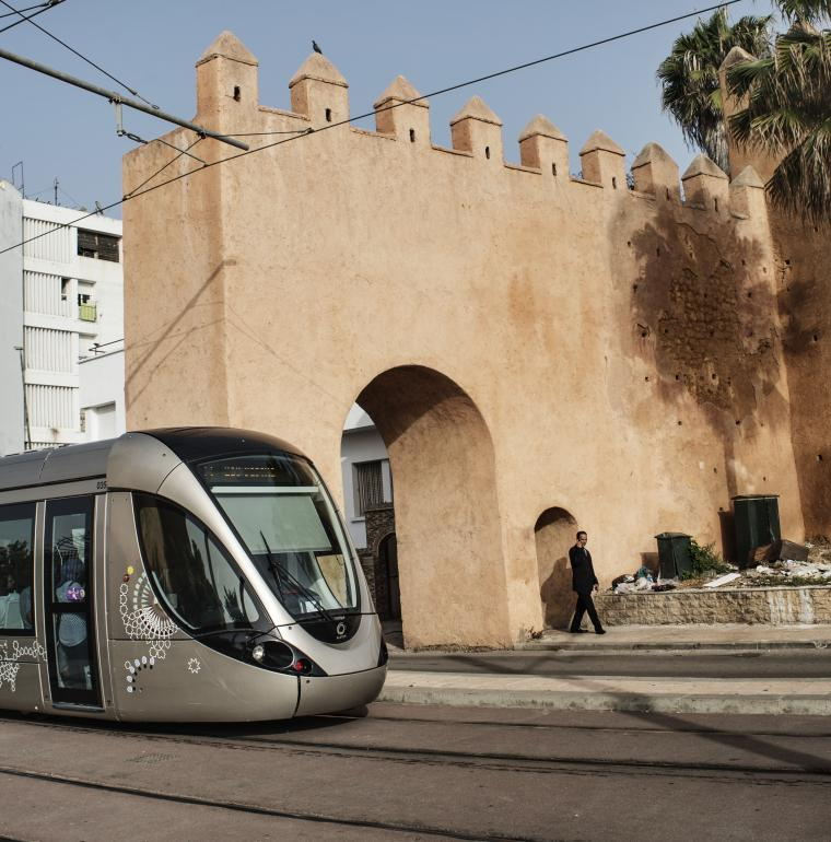 Tramway, Rabat, Morocco, public transports