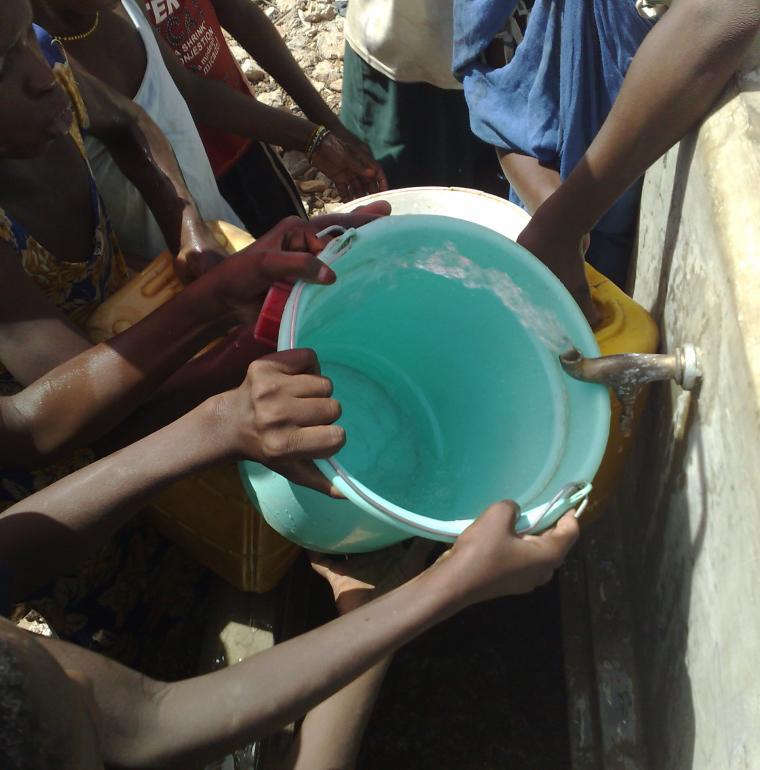 Mauritanie accès à l'eau Robinet