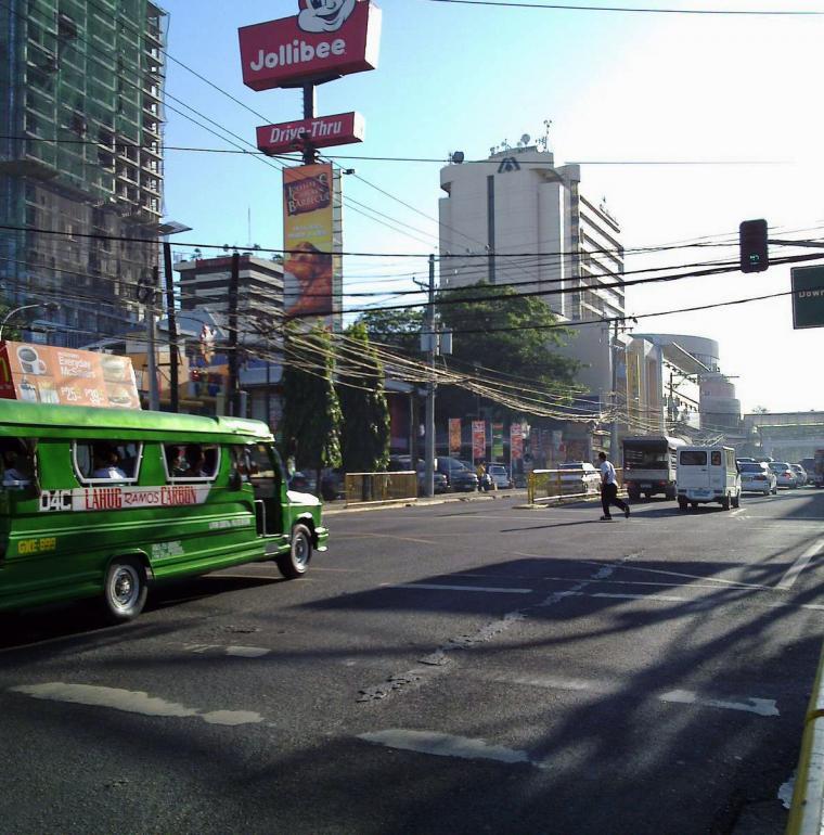 Rue à Cebu aux Philippines