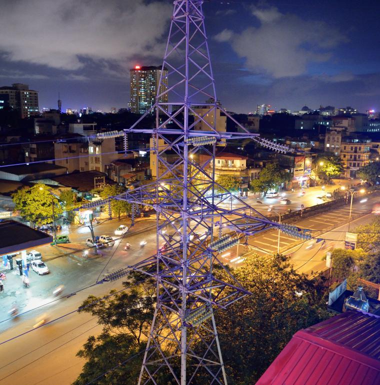 Vietnam Hanoï électricité dans la ville