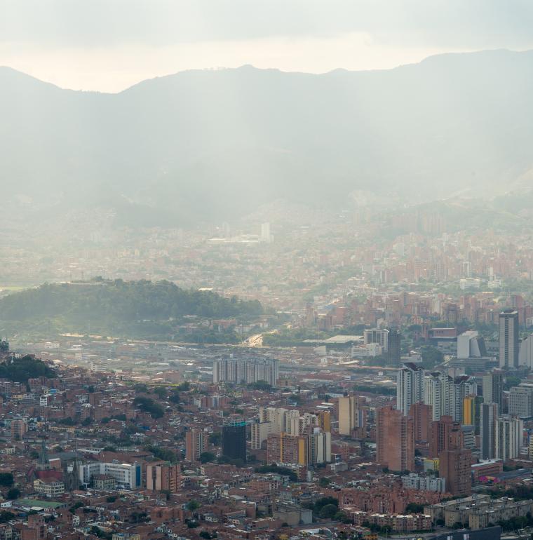 Vue sur la ville de Medellín, Colombie