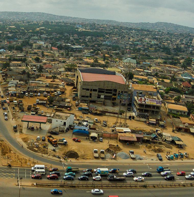 Ghana Accra vue du ciel