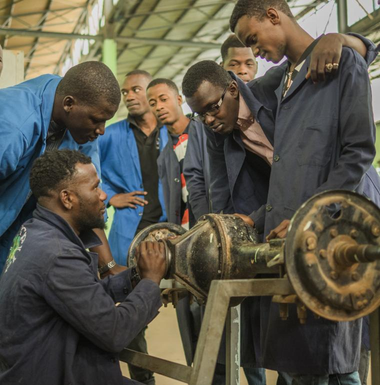 Technical college, students, learners, education, vocational training, Nouakchott, Mauritania