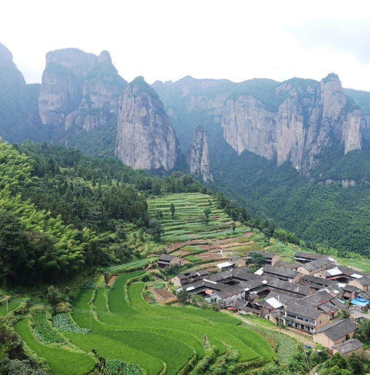 Village de Gongyu, Xianju, Chine