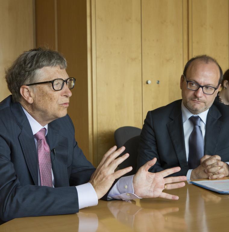 Rencontre entre Bill Gates et Rémy Rioux