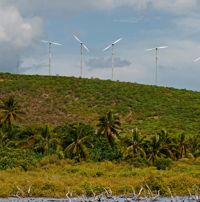 wind farms, nature, New-Caledonia, renewables, Chélard