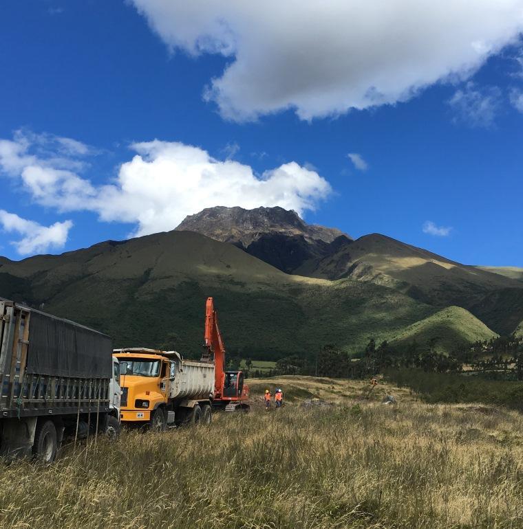 projet eau, Equateur, camion, nature