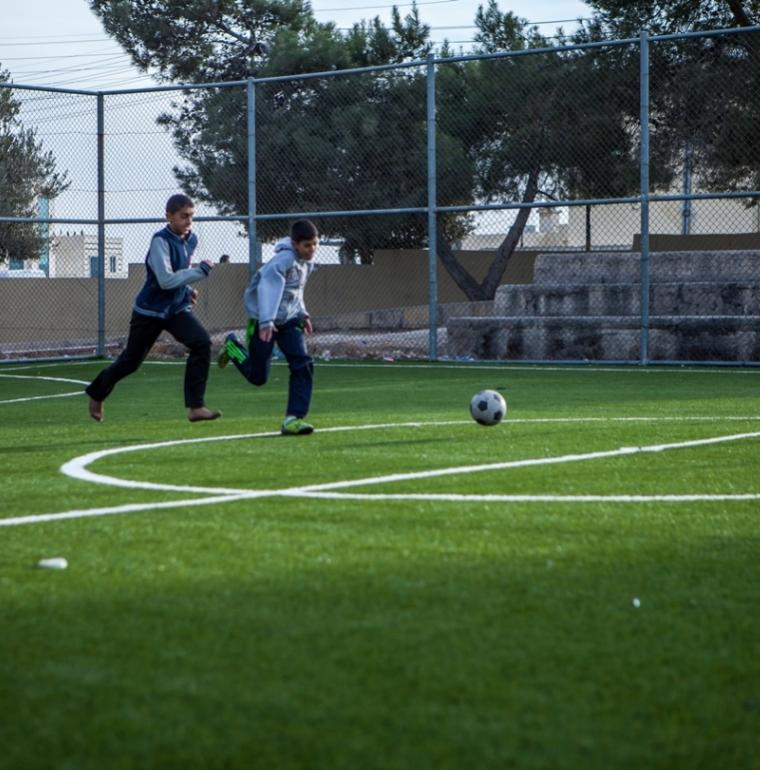 enfants, sport, football, Jordanie