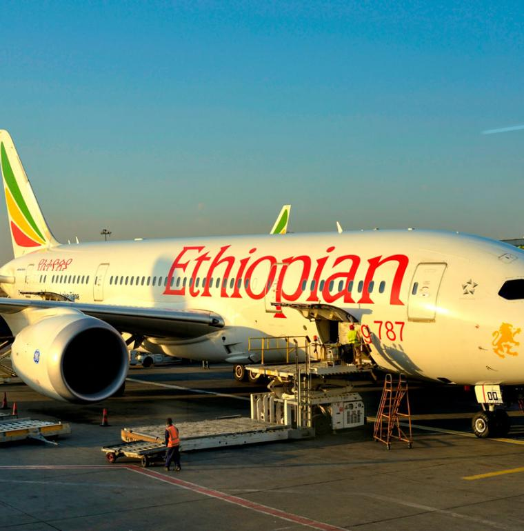 avion Boeing 787, Ethiopian Airlines, transport, aérien