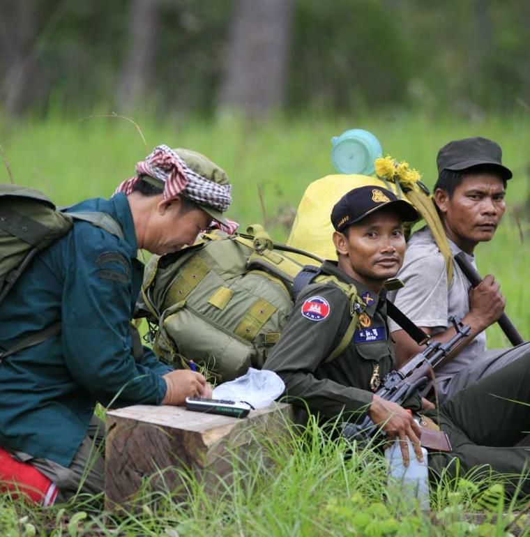 Guardes Cambodge biodiversité Cardamomes