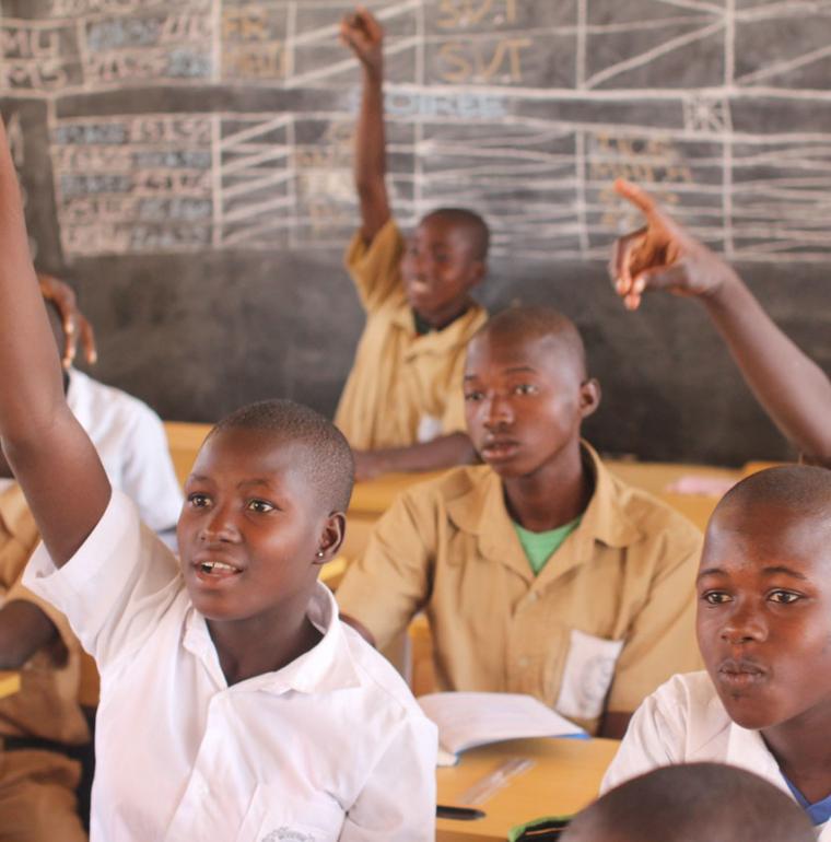 Des élèves d'un collège dans le nord de la Côte d'Ivoire