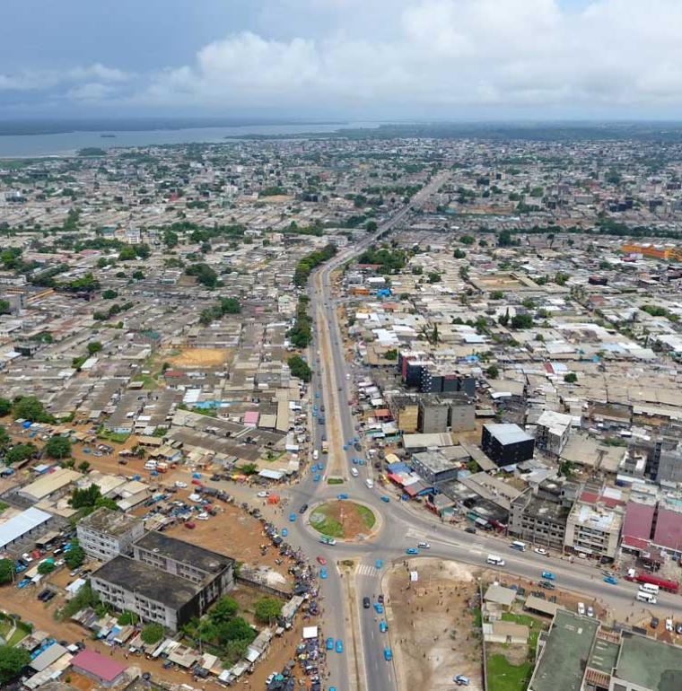 Côte d'Ivoire Yopougon Vue aérienne
