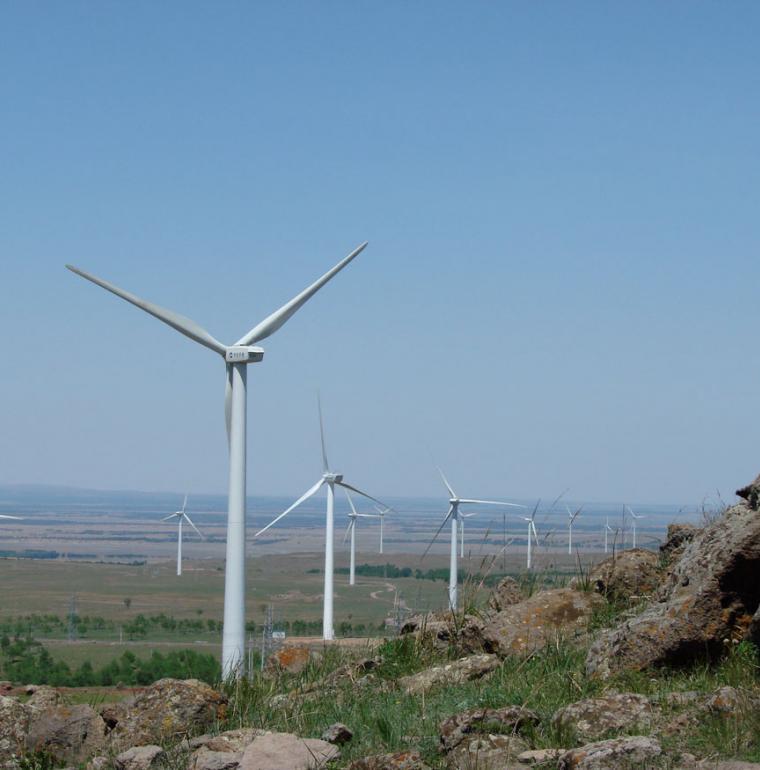 Parc éolien en chine, énergie