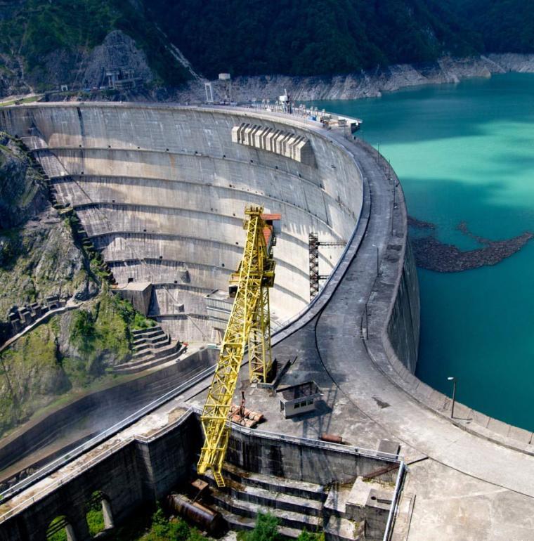 Inguri hydroelectric dam, energy, Georgia