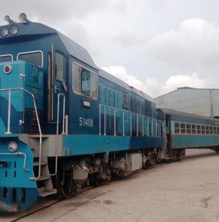 Atelier de réparation ferroviaire de Luyano à La Havane, Cuba, train, transport