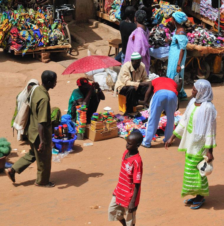 Serrekunda, Gambie, marché