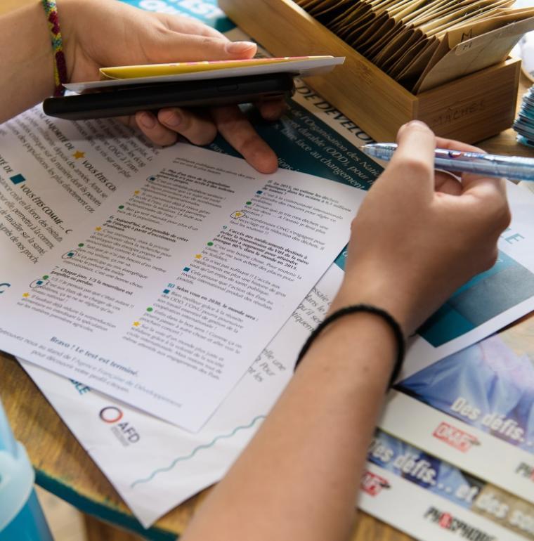 sensibilisation, AFD, outils pédagogiques, livrets