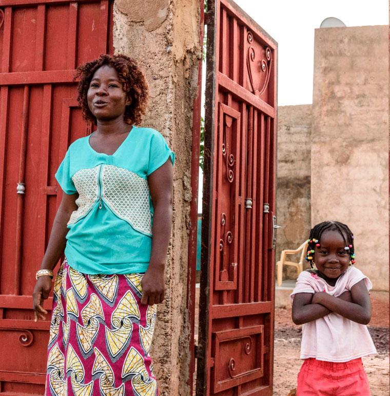 femme, enfant, Burkina Faso