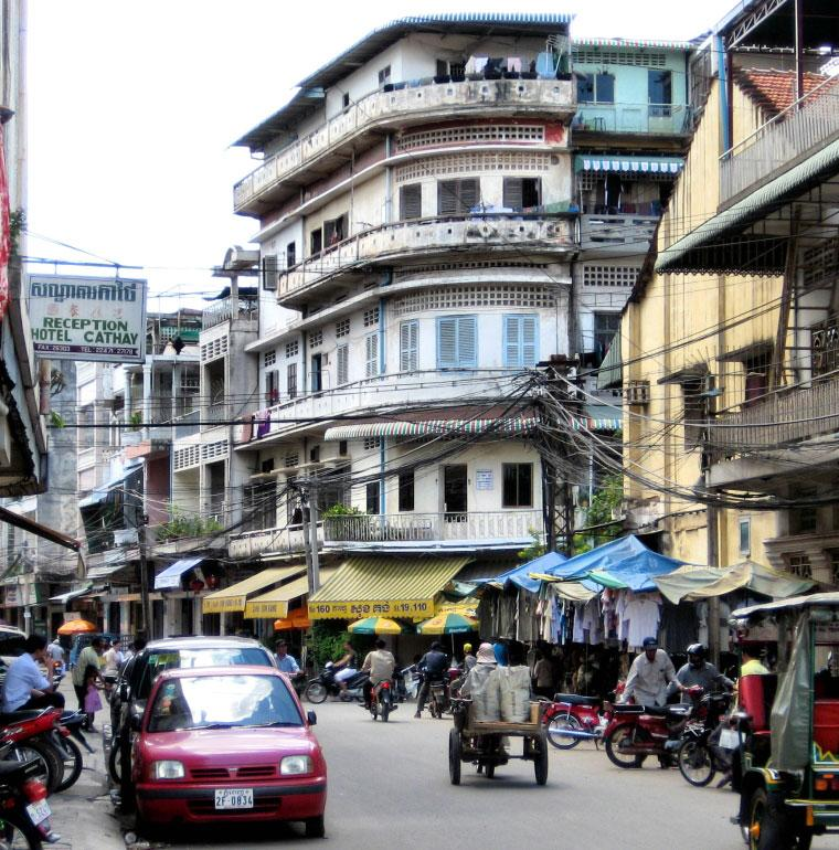 centre-ville de Phnom Penh, Cambodge