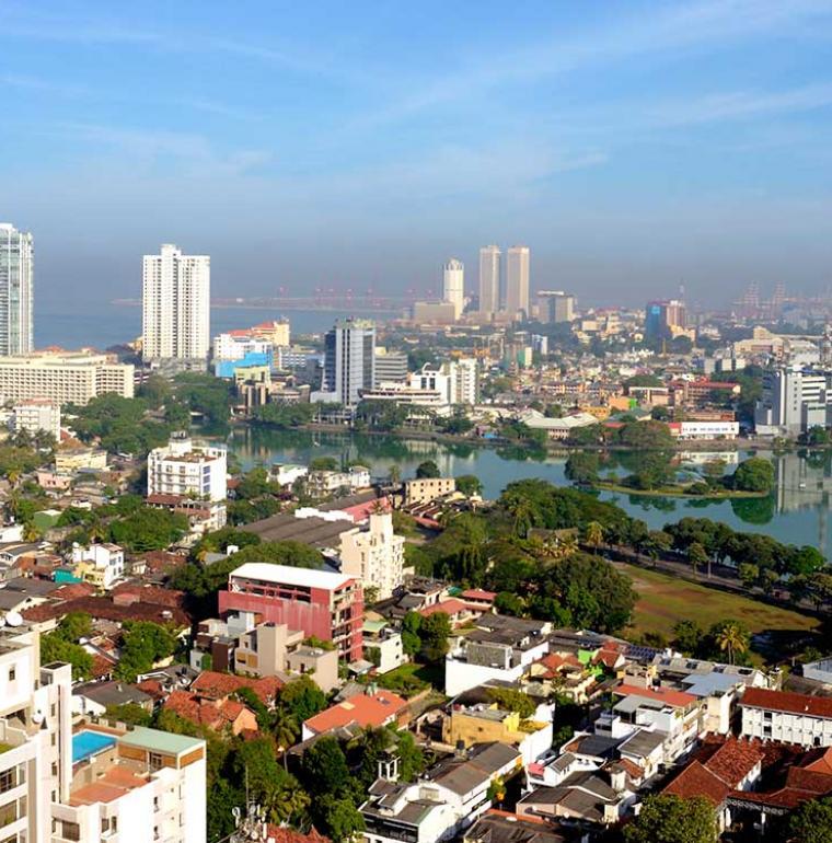 Transition économique et financière, ville de Colombo, Sri Lanka