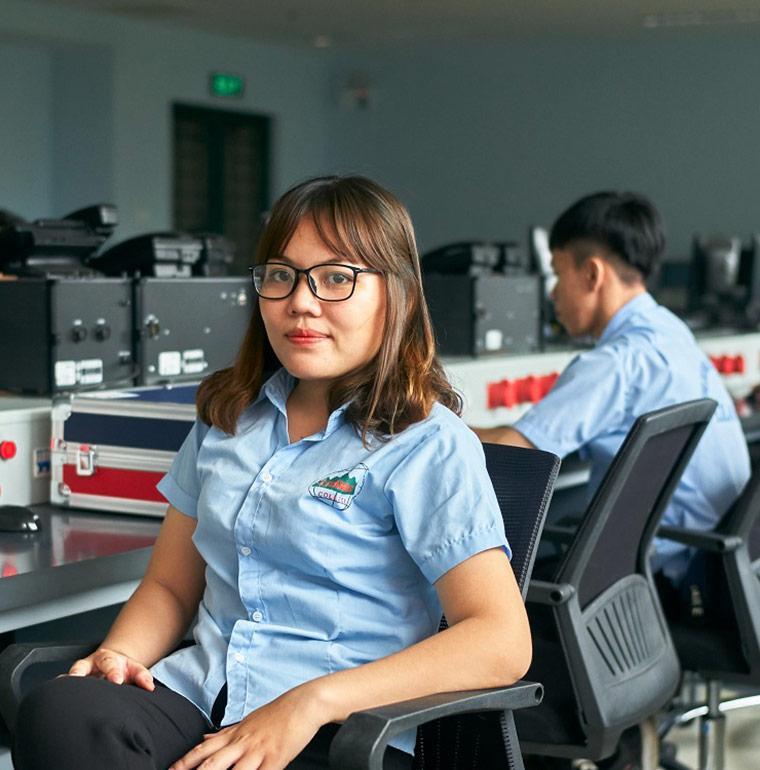 étudiante, formation professionnelle, Vietnam