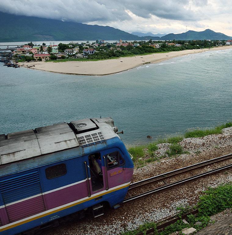 Train, ville, Vietnam