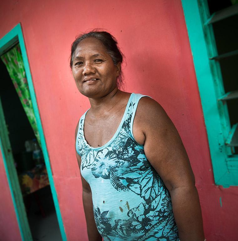 femme, Fatu Hiva, Polynésie française