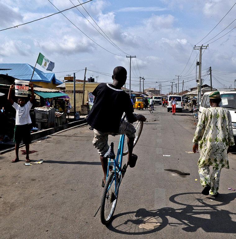 young man, city Nigeria