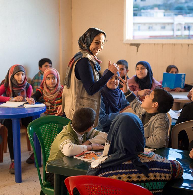 Syrian refugees, Lebanon, school, education