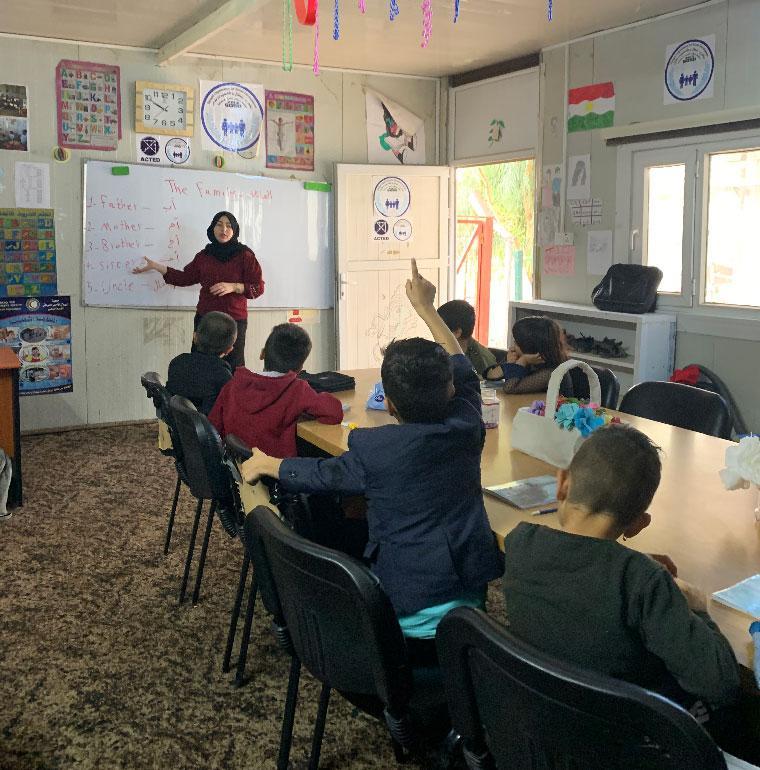lien social, école, Irak, AFD