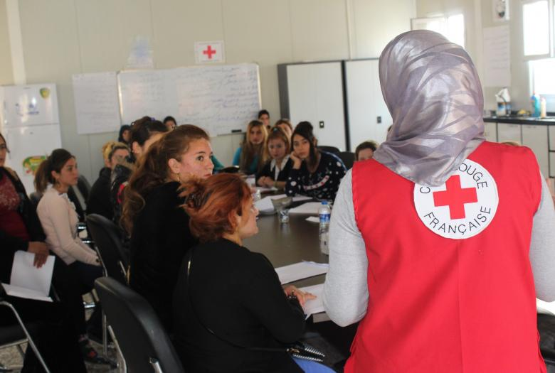 support, classroom, vulnerable populations, crisis, French Red Cross, NGO