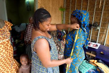 Sewing workshop in Abidjan neighbourhood, Niamey, Nigeria